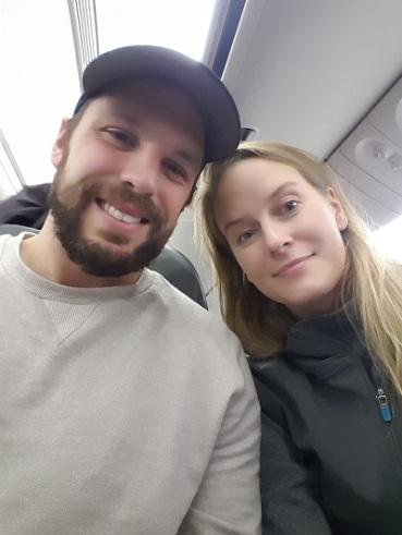 Boarding our AA Flight